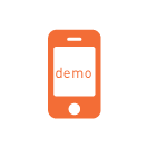 icon to view mobile app demo